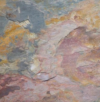 "Indian MultiColor Cleft Slate Tile 16""x16"""