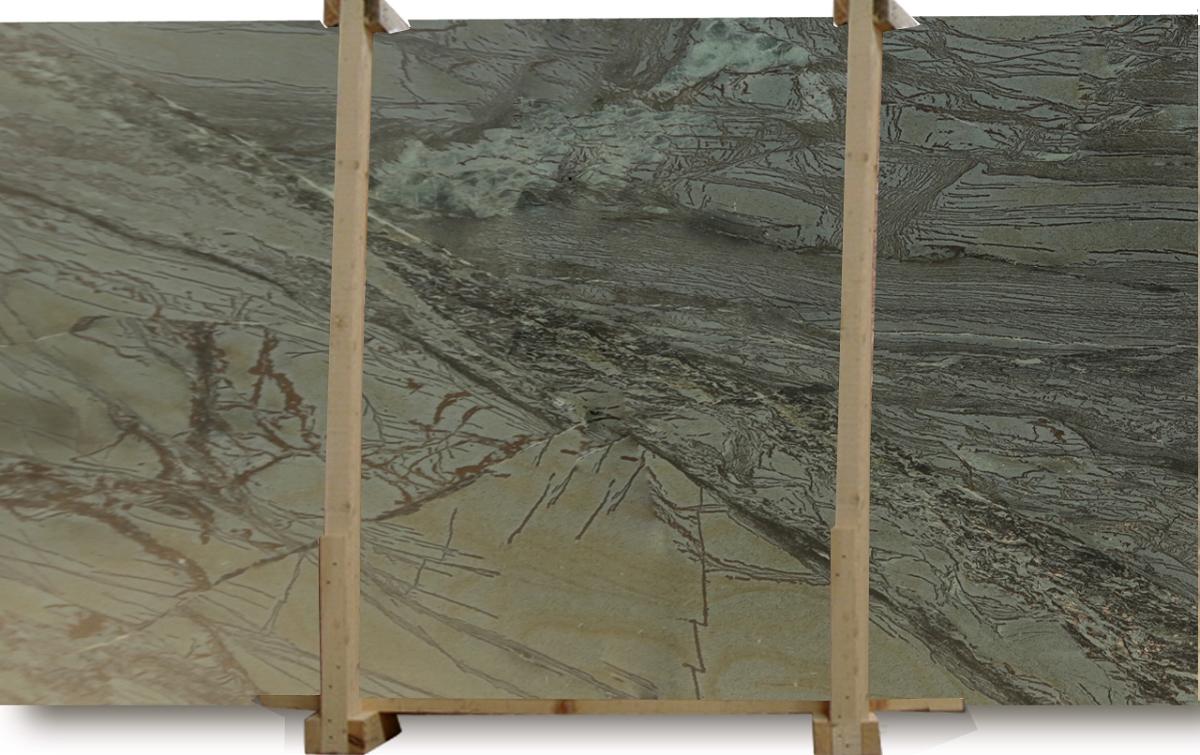 Green Iron Honed Quartzite Slab
