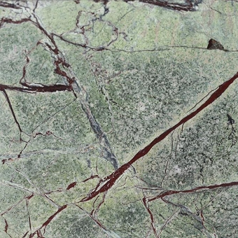 Rain Forest Green Brushed Marble Tile 12