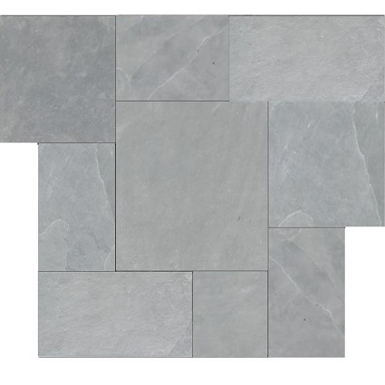 Brazilian Gray Montauk Blue Cleft Slate Pattern Tile