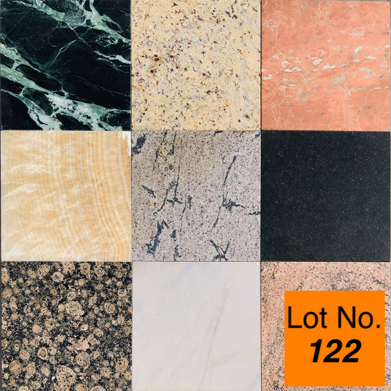 Lot #122: Pallet:  Mix Marble and Granite tiles : Approximately 400 sq.ft.