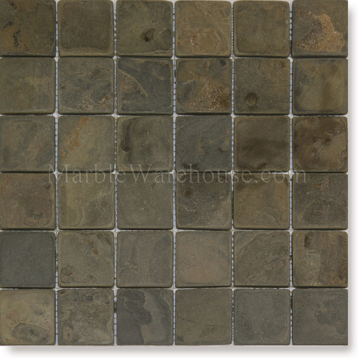 Home Stone Tile Slate Mosaic Accessories Indian California Gold 2 X2