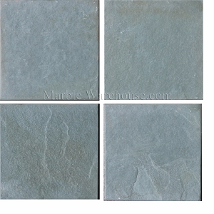 Brazilian Green Slate Brushed Tile 6x6
