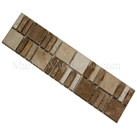 Mix Travertine Mosaic Border Alpaca A1