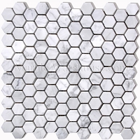 Carrara Hexagon Marble Mosaic