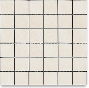 Antique White Amore 2x2 Porcelain Mosaic Tile 12x12