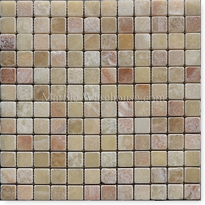 Honey Onyx Tumbled Mosaic 1