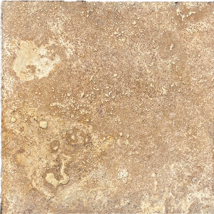 Antique Noce Travertine Tile Chiseled Edge Tumbled 12x12
