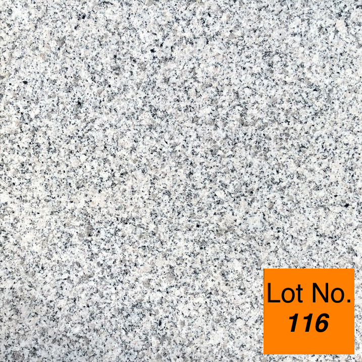 Lot #116: Pallet: Bianco Crystal Granite Tile 12