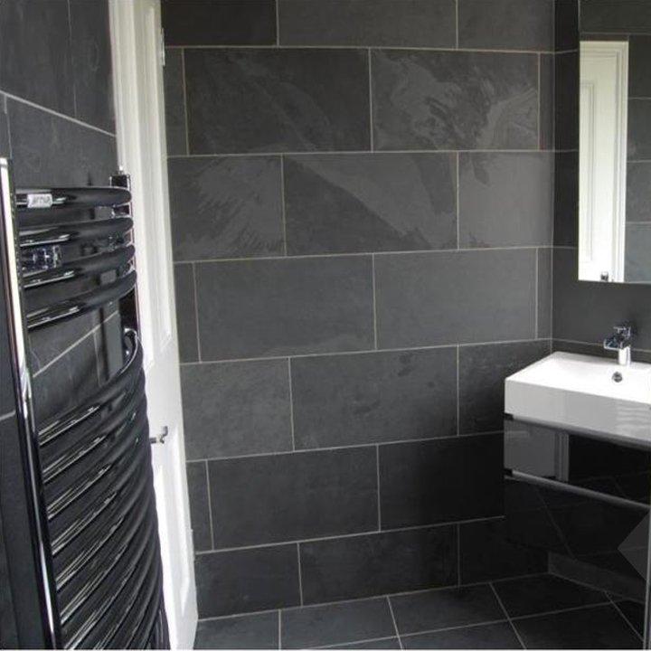 Brazilian Black Montauk Black Cleft Slate Tile 12x12