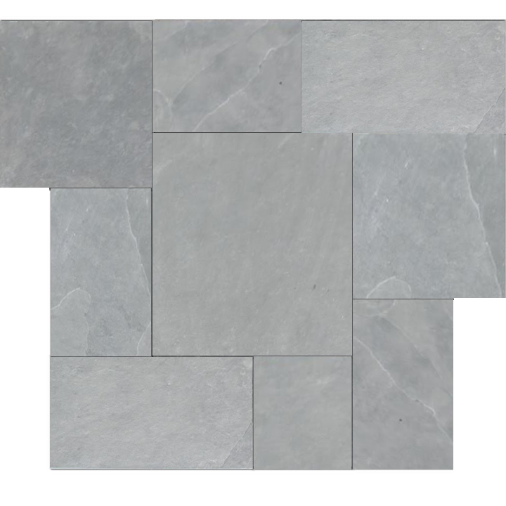 Brazilian Gray Montauk Blue Cleft Slate Pattern Tile
