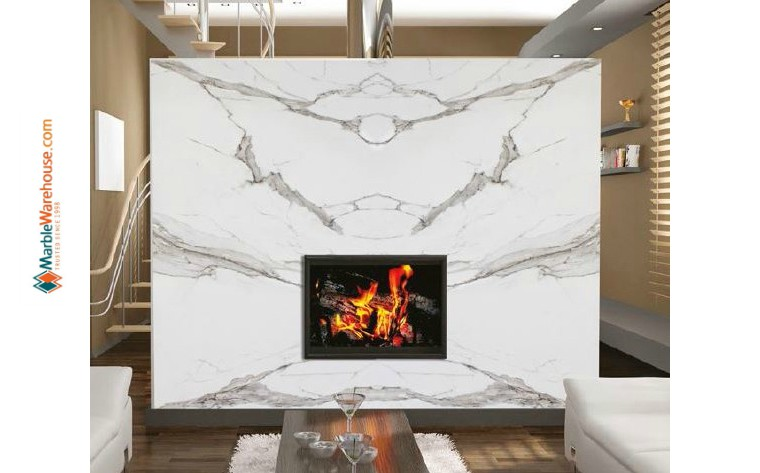 Which is better marble or granite tile for Fireplace
