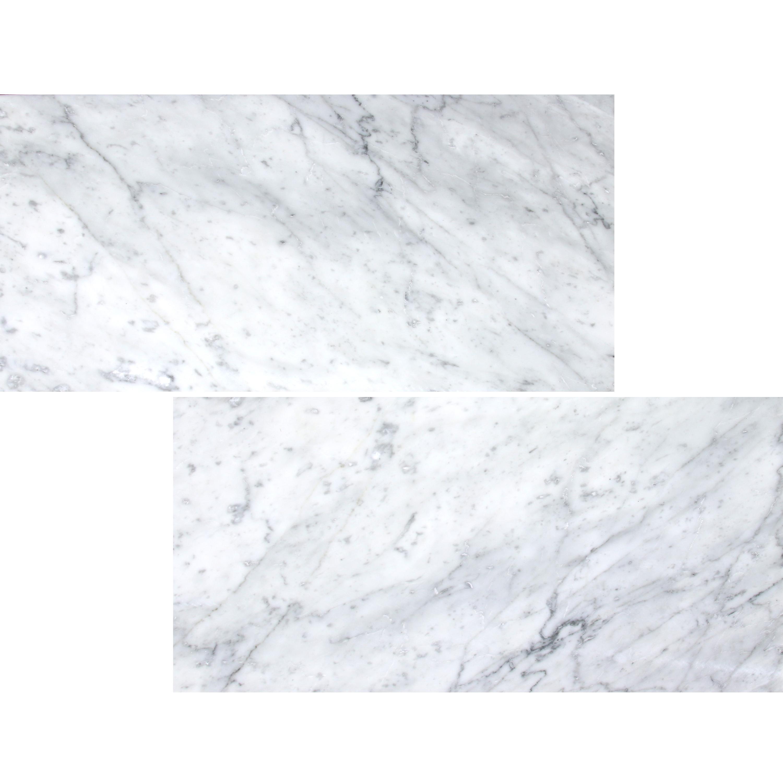 White Carrara Polished Marble Tile 12x24