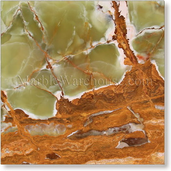 Multi Green Onyx Tile 12