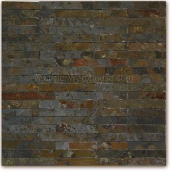 Brazilian Multicolor San Rio Rustic Slate Mosaic 12 Quot X12 Quot