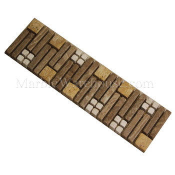 Mix Travertine Mosaic Border Alpaca A5