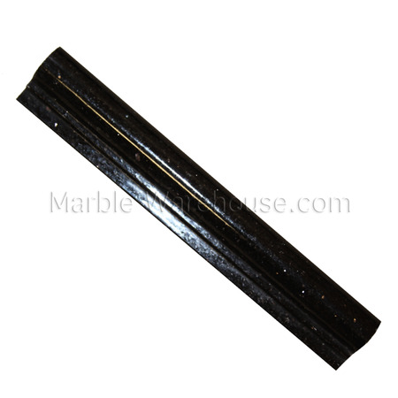 Black Galaxy Granite Chair Rail - 2 1/4