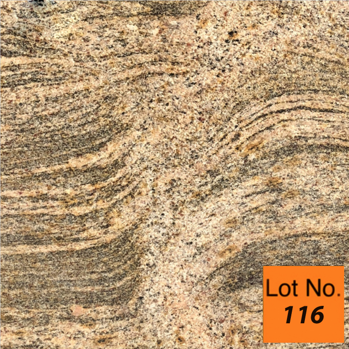 Lot #116: Pallet: Juparana Colombo Gold Granite Tile 12
