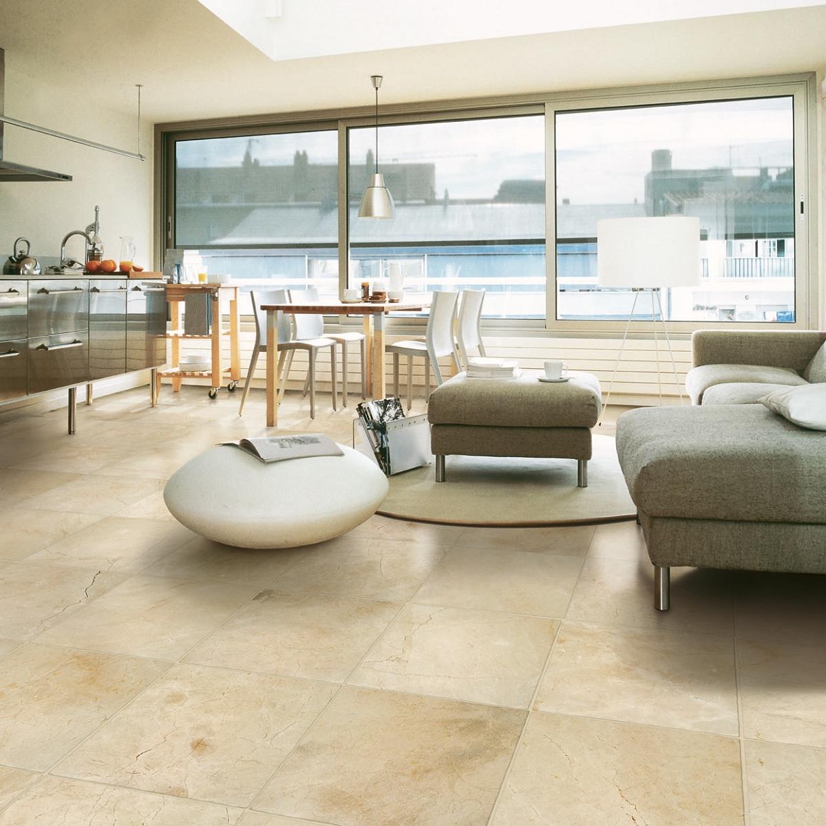 Lot #108: Pallet: Crema Marfil Marble Tile 24
