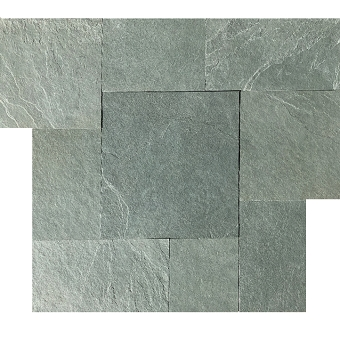 Brazilian Green ( Jade Green ) Cleft Slate Pattern Tile