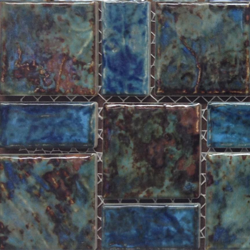 Home Decorative Marble Fujiwa Tile Random Legacy Blue Red Mix 97