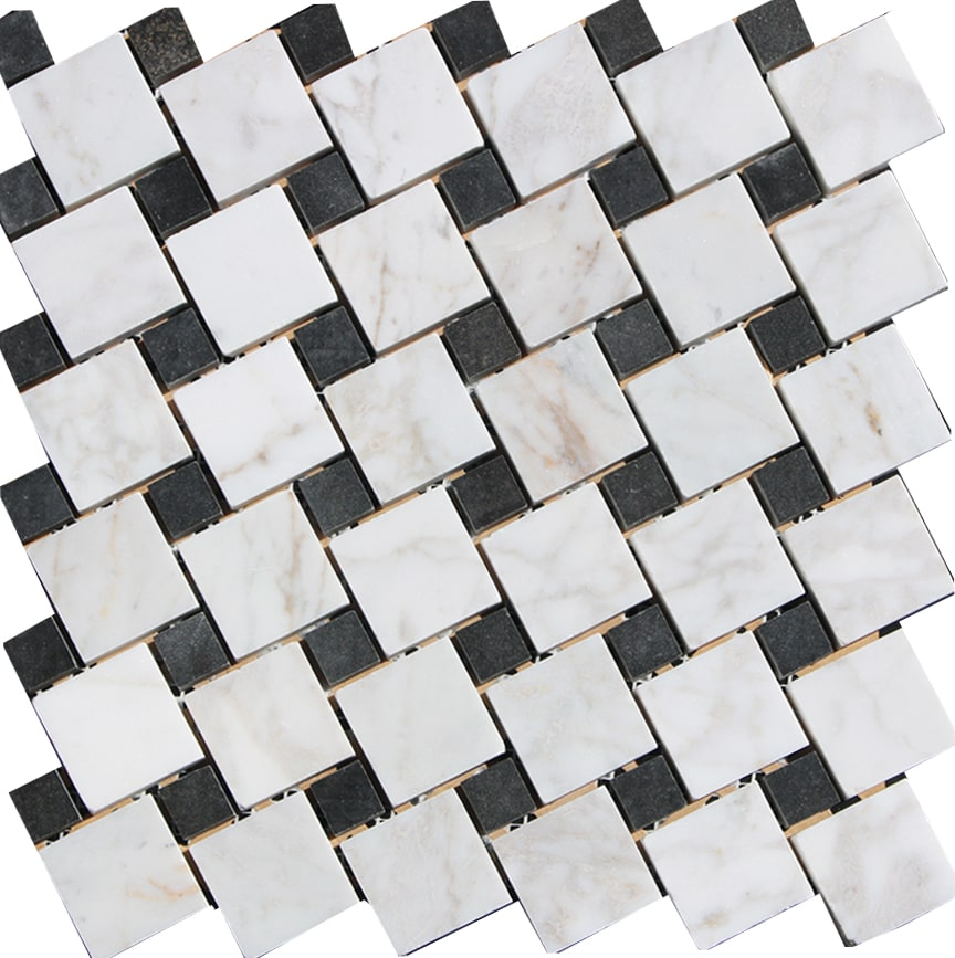 Carrara Polished black and white Square random 2