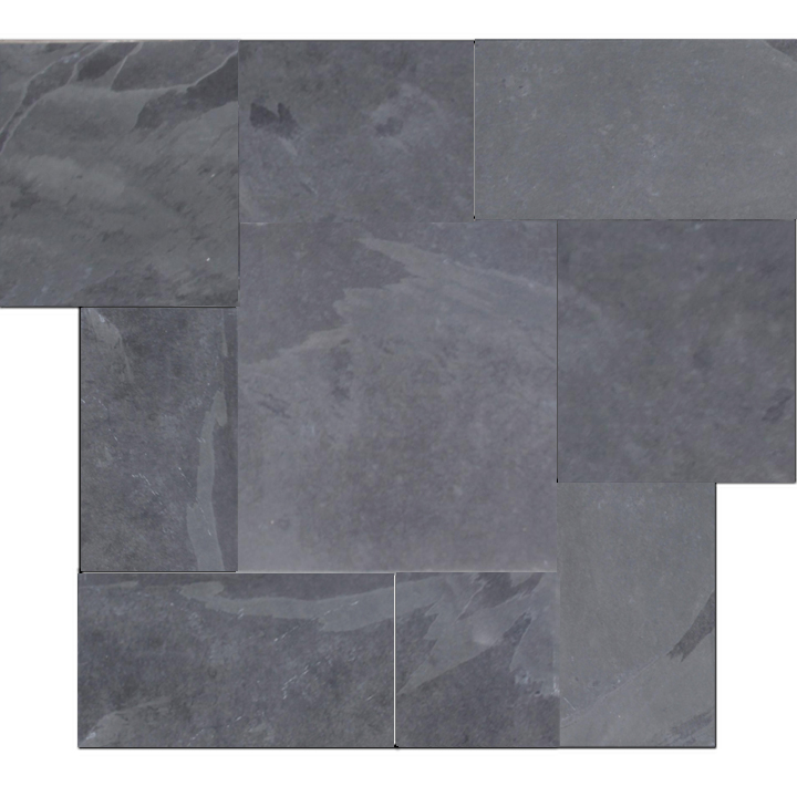Black Slate Patter : Brazilian black montauk cleft slate pattern tile