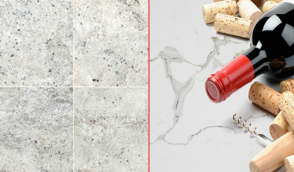 Difference between polished and unpolished marble floor tile