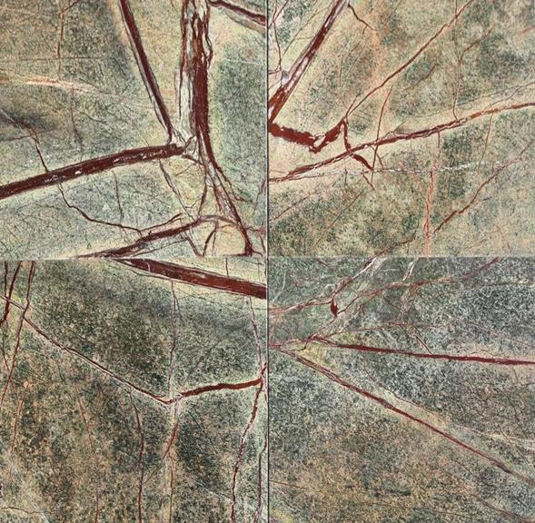 Rain Forest Green Marble : Rainforest green marble tile quot x tiles