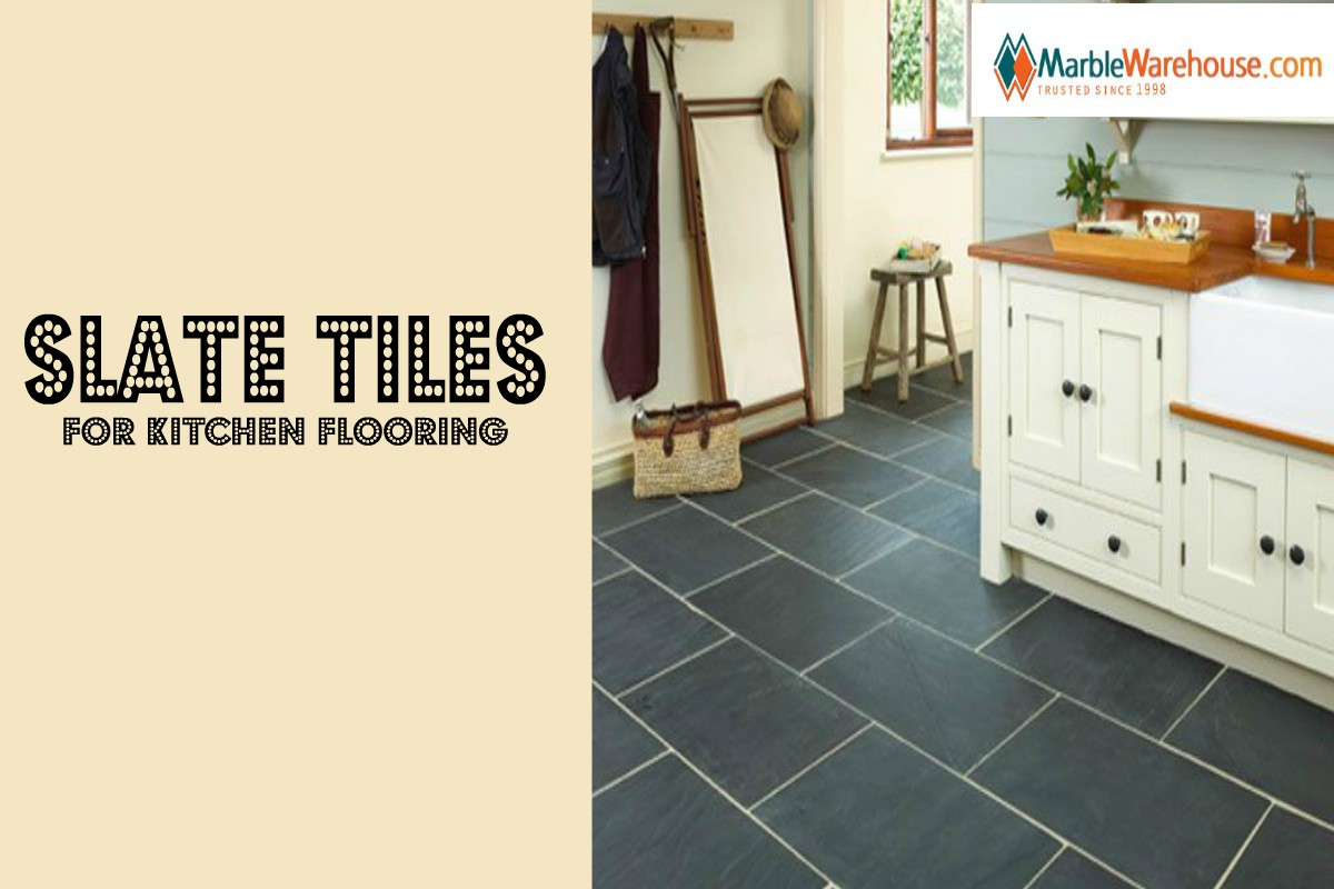 Use slate tile in the kitchen for a professional look