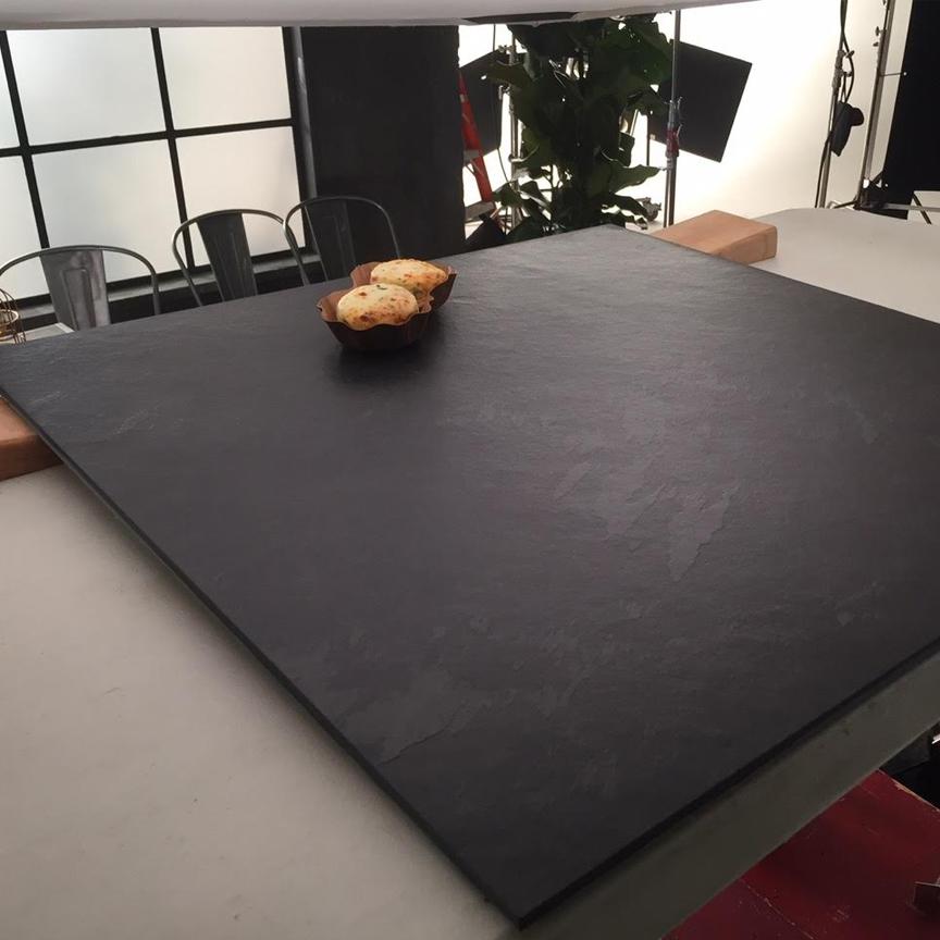 Brazilian Black Montauk Black Cleft Slate Tile 24x24