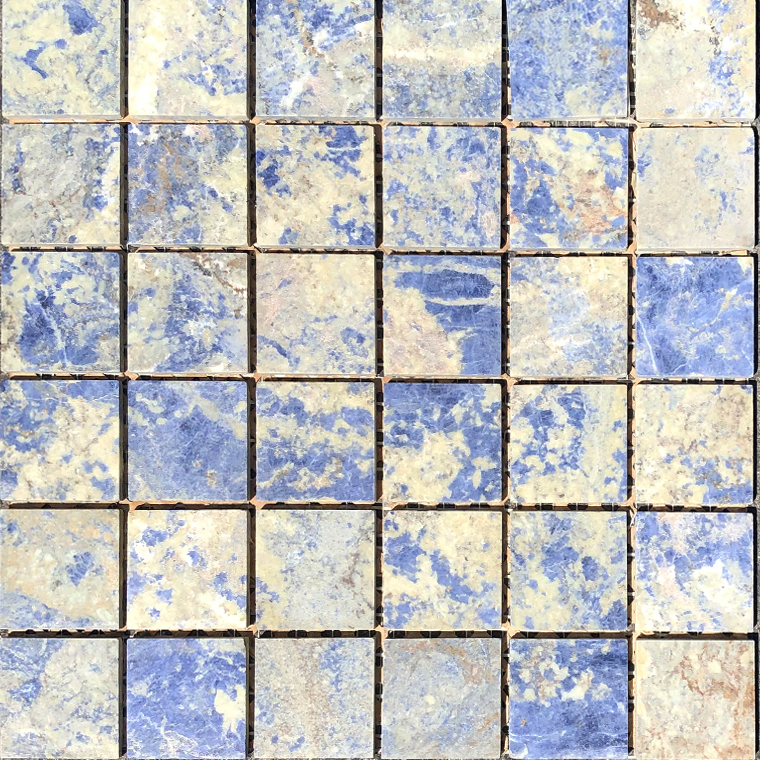 Sodalite Blue Mosaic 2x2-Honed
