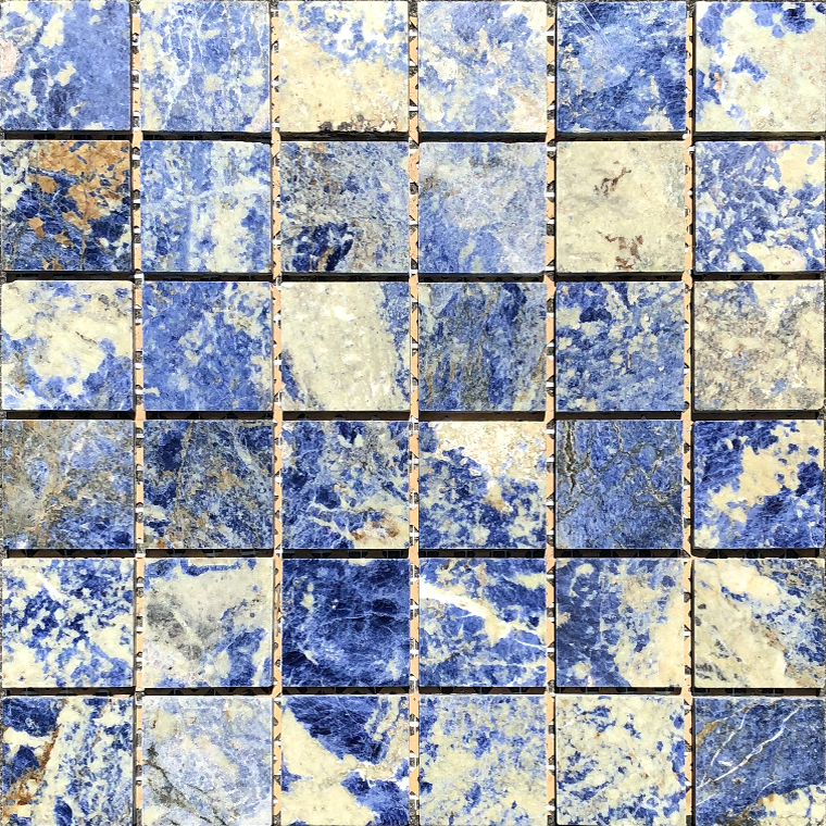 Sodalite Blue Mosaic 2x2-Polished