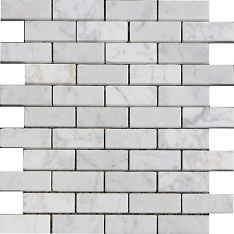 Carrara Marble Mosaic Polished 1x3