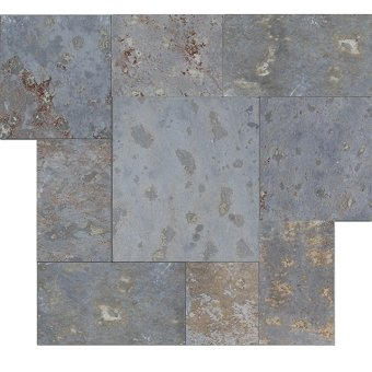 Brazilian Multicolor Cleft Slate Pattern Tile
