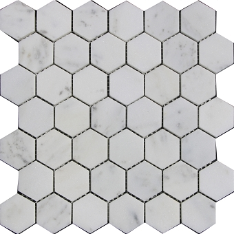 Carrara marble mosaic Honed 2