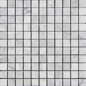 Carrara Gray Marble Mosaic Polished 1x1 Square
