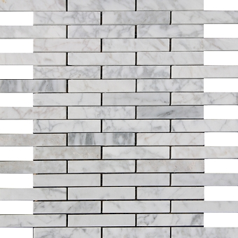 Carrara Marble Mosaic Polished 5/8x4