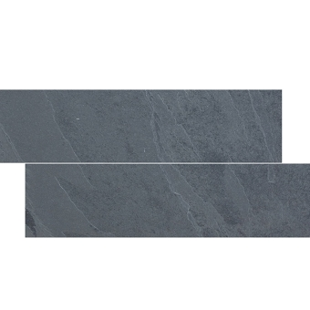 Brazilian Black Cleft Slate herringbone Tile 6