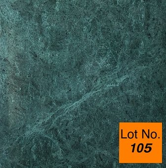 Lot #105: Pallet: Nature Green (Dark Green) (Verde Guatemala) Marble Tile 18
