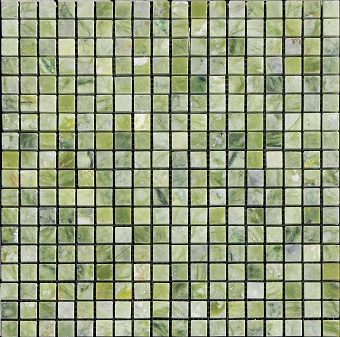 Jade Green Marble Mosaic Polished 5/8