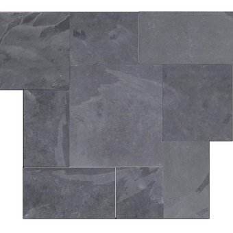 Brazilian Black ( Montauk Black,Hampshire ) Cleft Slate Pattern Tile #1