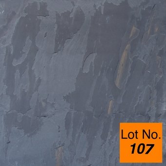 Lot #107: Pallet: Black Rustic Cleft Gauged Slate Tile 18