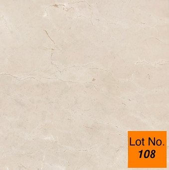 Lot #108: Pallet: Crema Marfil Marble Tile 24x 24x 1/2 : 300 sq.ft.