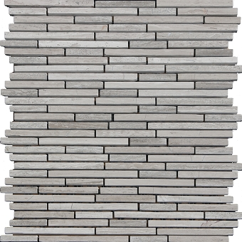 Wooden Grey Marble Tile Mosaic Polished 1/4