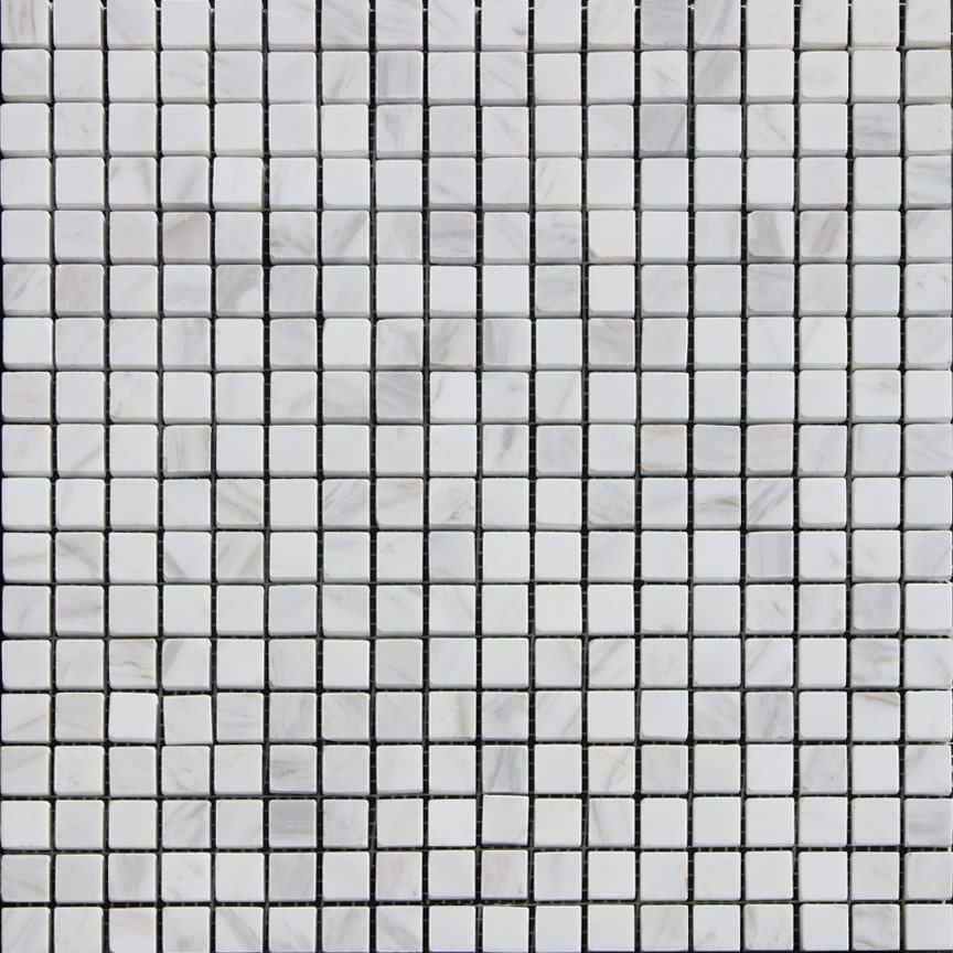 Olympus White Marble Mosaic Polished 5/8x5/8