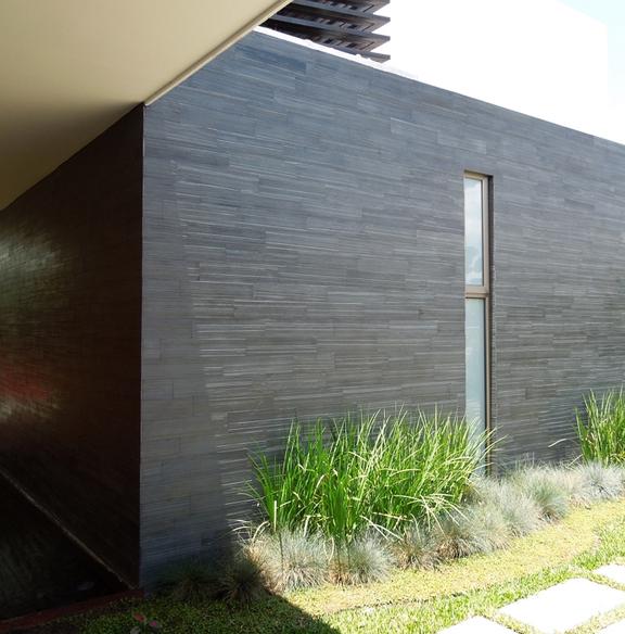 brazilian black montauk black wall mounted slate tile 8x24