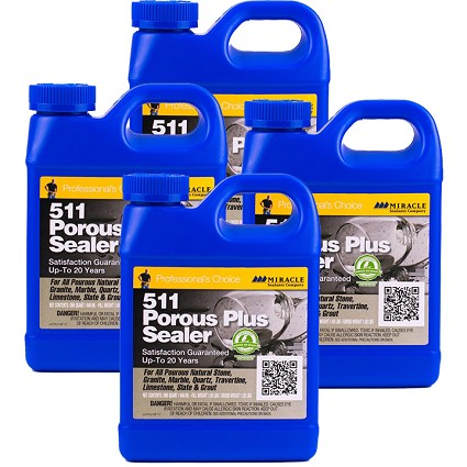 Miracle Sealants 511 Porous Plus Penetrating Sealer - 4 Quarts