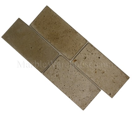 "Classico Tumbled Travertine Tile 3""X6"""