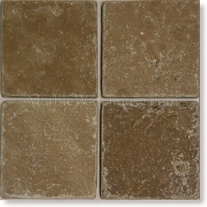 "Noce Tumbled Travertine Tile 6""x6"""
